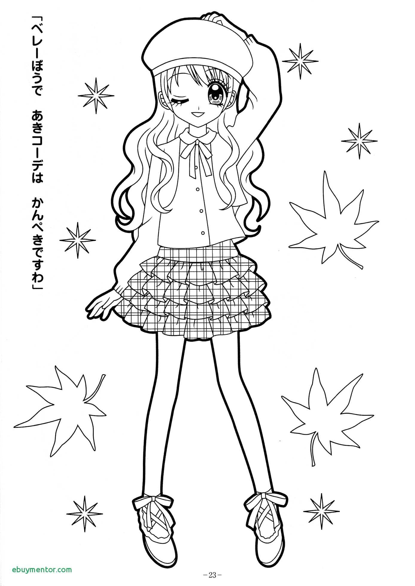 This is a graphic of Anime Girl Coloring Pages Printable within sakura